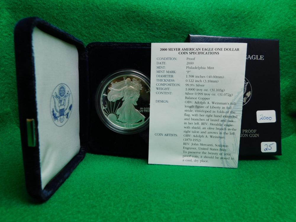 2000-P PROOF SILVER EAGLE