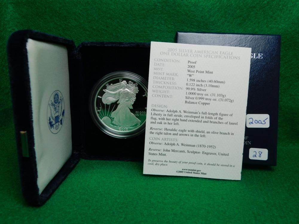 2005-W PROOF SILVER EAGLE