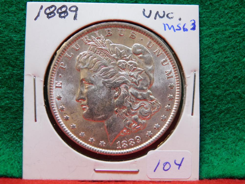 1889 MORGAN SILVER DOLLAR MS63