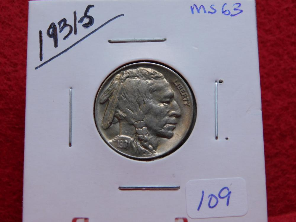 1931-S BUFFALO NICKEL MS63