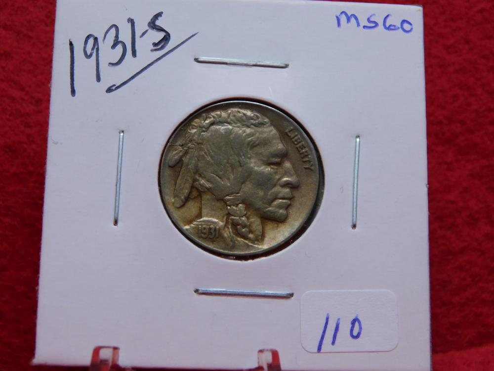 1931-S BUFFALO NICKEL MS60