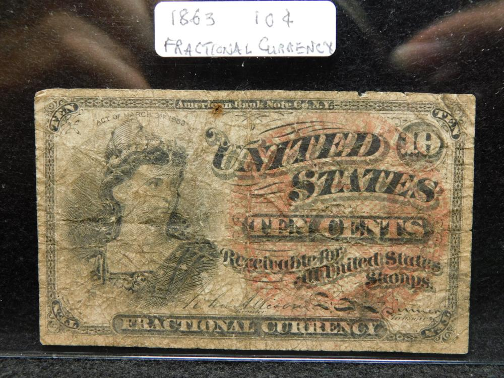 1863 10 CENT FRACTIONAL CURRECY