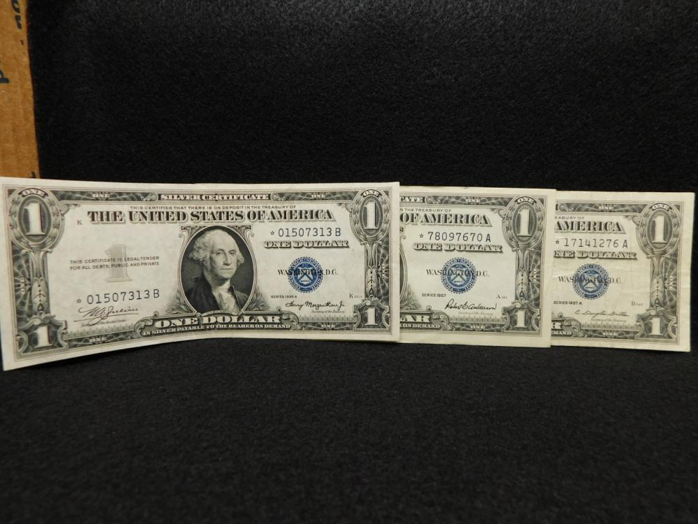3 - $1.00 SILVER CERTIFICATE STAR NOTES