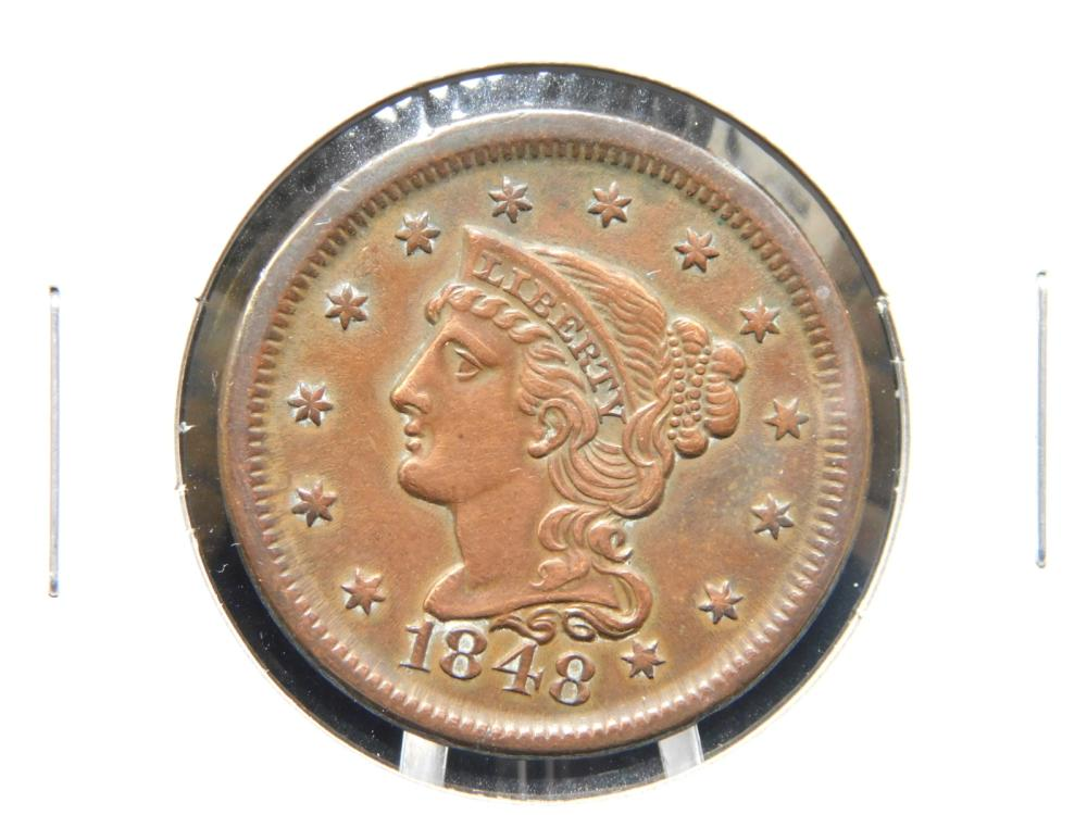 1848 LARGE CENT MS60