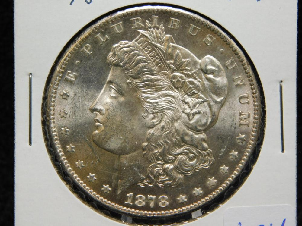 1878-S MORGAN SILVER DOLLAR MS63