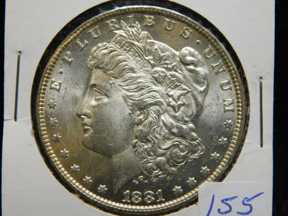 1881-O MORGAN SILVER DOLLAR MS63