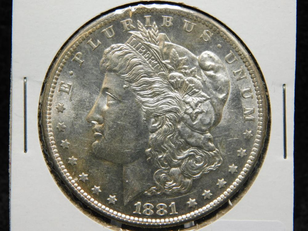 1881-S MORGAN SILVER DOLLAR MS63