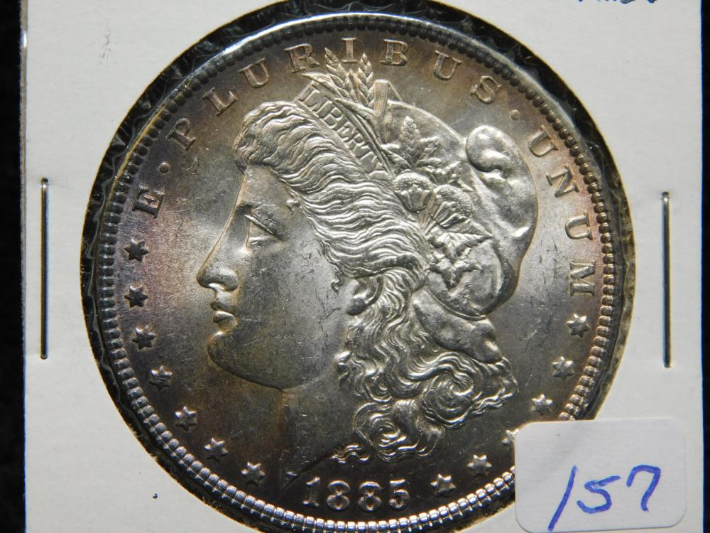 1885 MORGAN SILVER DOLLAR MS63 TONED