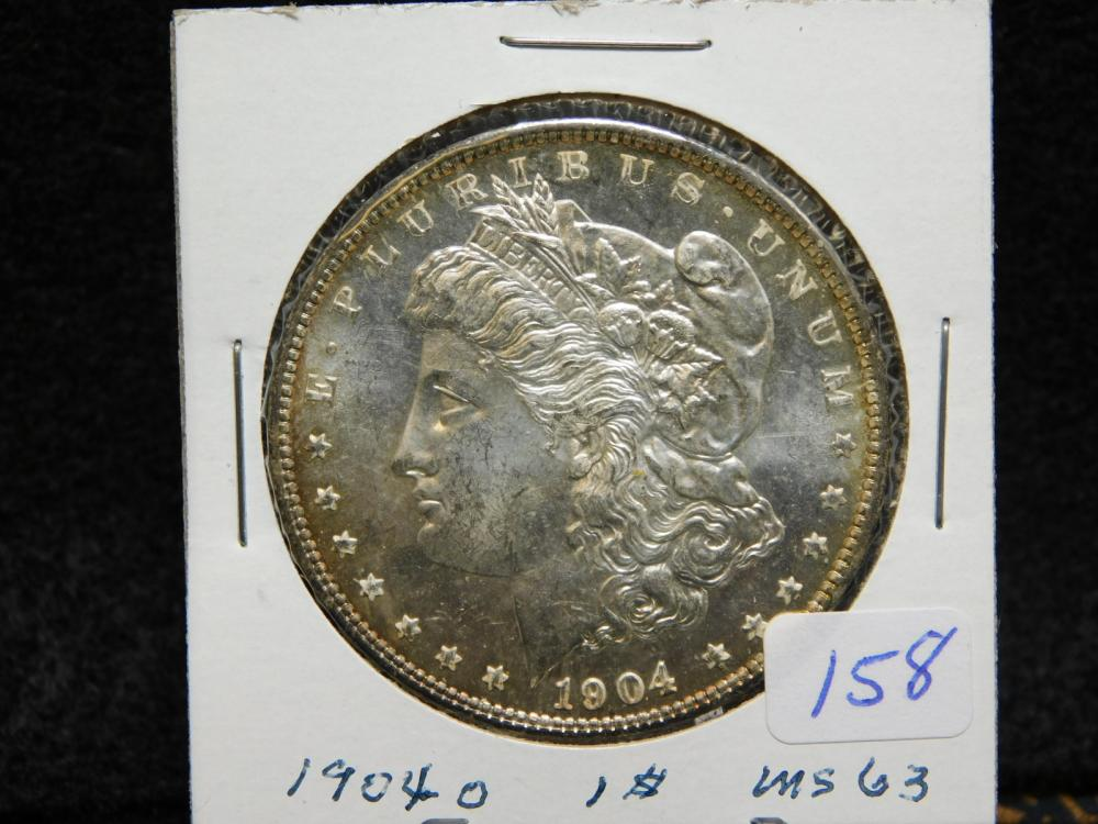 1904-O MORGAN SILVER DOLLAR MS63