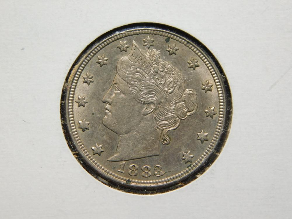 1883 W/O CENTS LIBERTY HEAD (V) NICKEL MS60