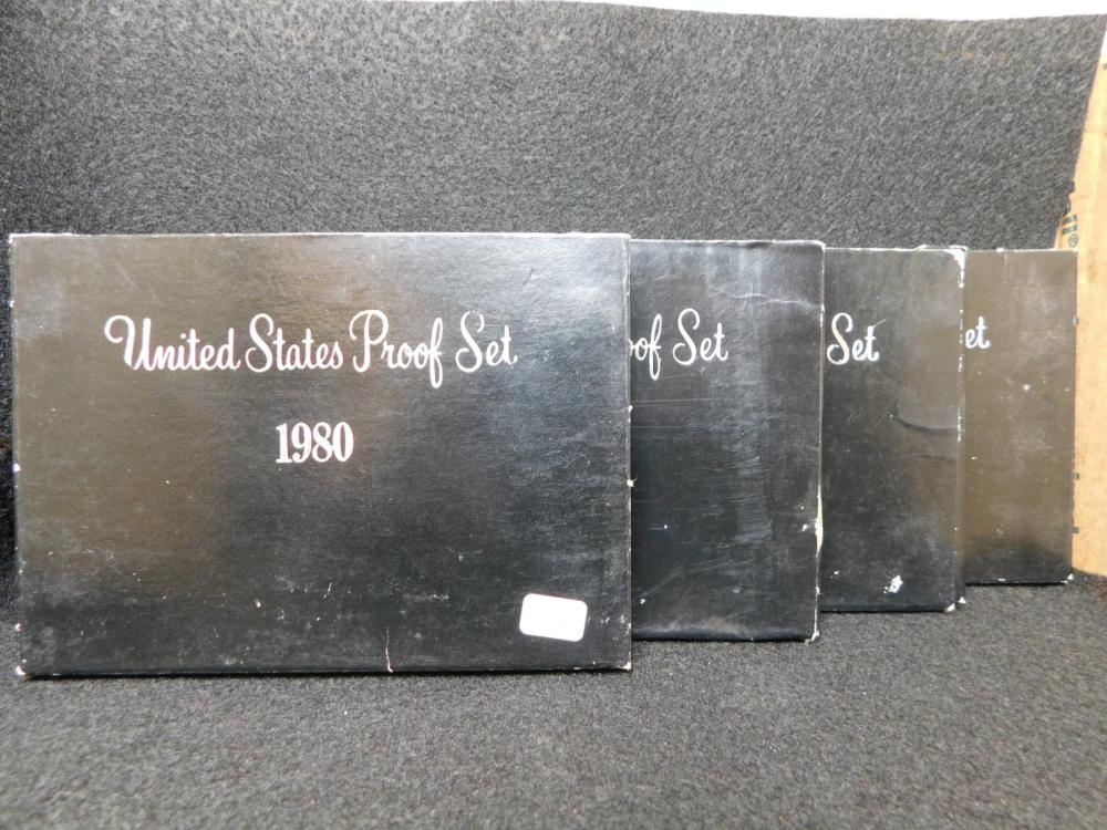4 - PROOF SETS 1980, 1981, 1981 & 1982