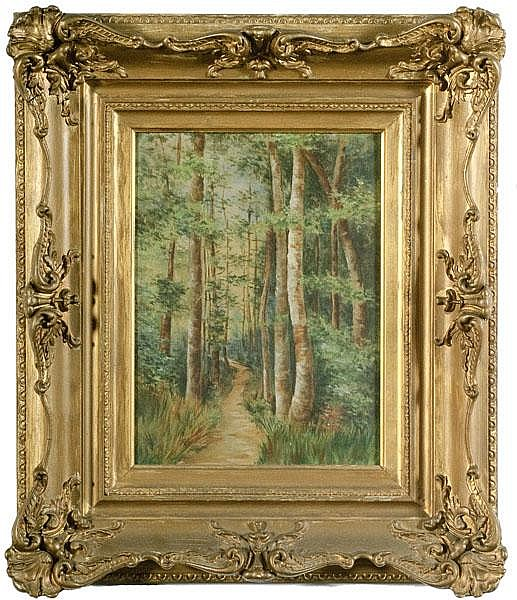 Forest Scene by Carl Wilhelm Müller , Oil on Canvas