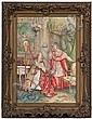 Italian Genre Scene, Watercolor by Umberto Cacciarelli, Umberto Cacciarelli, Click for value