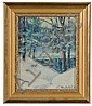 Winter Landscape by Charles William Duvall, Oil on Board, Charles William Duvall, Click for value