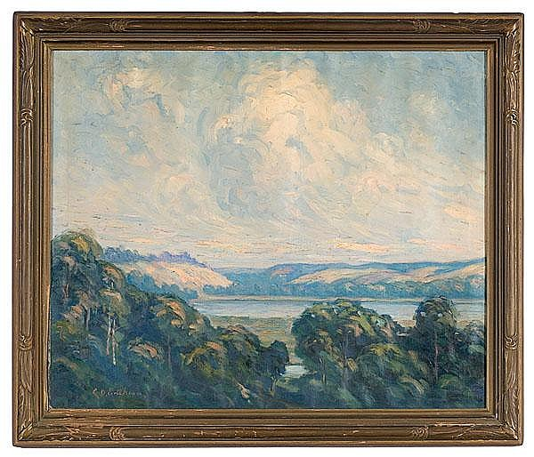 Landscape by Carl O. Erickson, Oil on Canvas