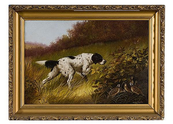 Hunting Scene by William McKendree Snyder, Oil on Canvas