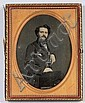 Gurney, NY Half Plate Daguerreotype of a Seated Gentleman,, Jermiah Gurney, Click for value