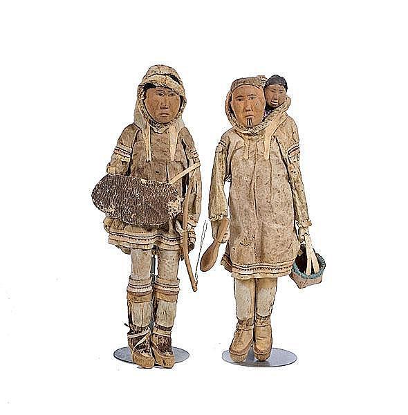 Mrs. George Ahgupuk Eskimo Dolls