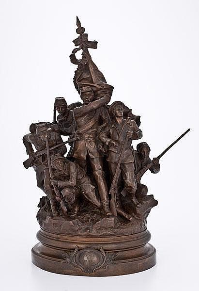 Franco-Prussian War Era Bronze by Croisy,