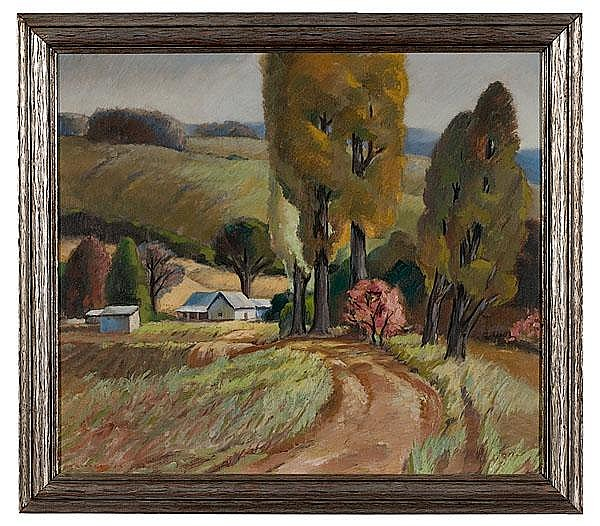 Fall Landscape by George Jo Mess (American, 1898-1962),