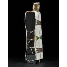 Sioux Beaded Hide Cradle with Painted Parfleche Back