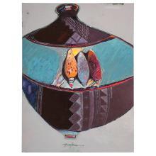 Dennis Numkena (Hopi, b. 1941) Oil on Canvas