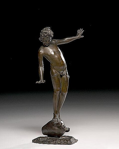 Bronze of an Adolescent Boy by Francesco Parente (Italian, 1885-1969)