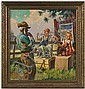 Genre Scene by Henry Hintermeister, Oil on Canvas, Henry Hintermeister, Click for value