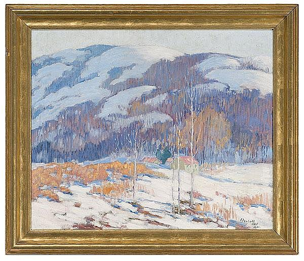 Winter Landscape by Elizabeth H. Alke, Oil on Canvas