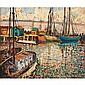 Francis Focer Brown (American, 1891-1971) Harbor, Francis Focer Brown, Click for value