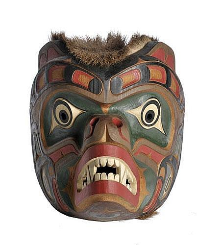 Kwaguilth Sea Bear Mask by Tom Patterson,