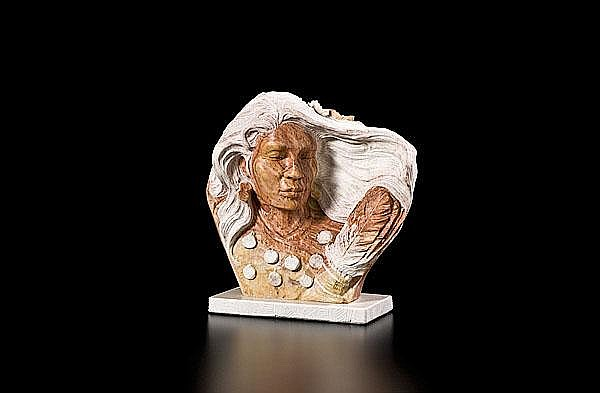 Alvin Marshall Navajo Sculpture Sunset Prayer