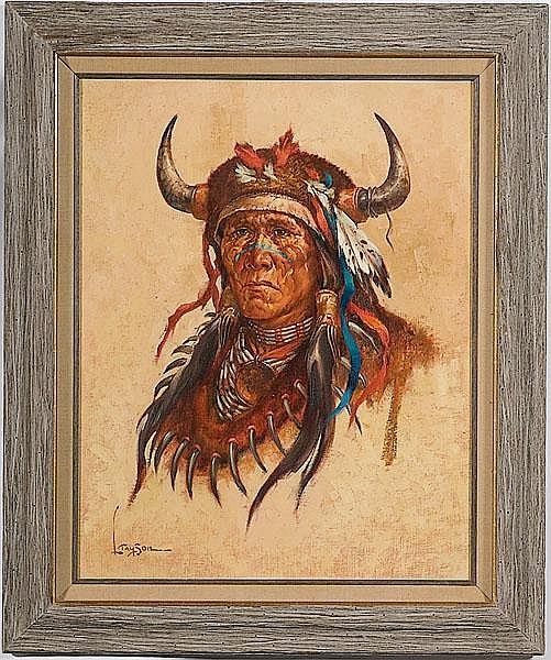 Lyle Tayson Sr. (American, b. 1924), Warrior Portrait