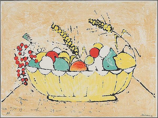 Alberto Sartoris (Italian, 1901-1988), Still Life of Fruit