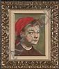 Rezes Molnar (Hungarian), Portrait of a Young Girl, R. Molnar, Click for value