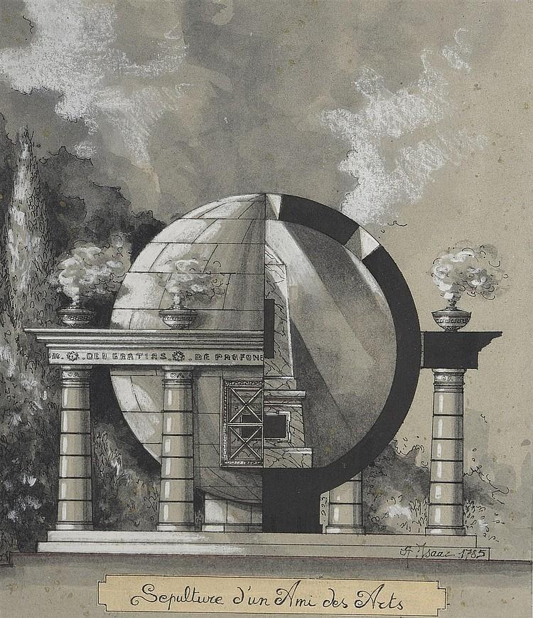Ecole FRANCAISE du XIXème siècle, dans le goût de Louis Etienne BOULLEE