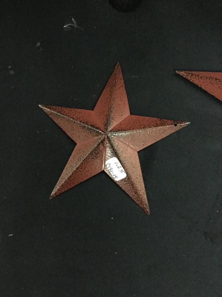 set of 12 rustic star decor