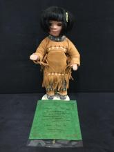 hand crafted porcelain native american doll by Nanci/Timeless Collection #14/2500 - w/coa