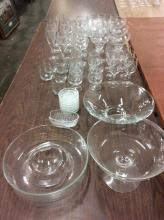 Huge set of 51 Princess house Crystal Pieces in box - see pics