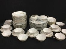Lovely 72 piece Mid Century China service for 12 by Violet China -