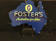 Fosters Australian Beer Neon sign - the transformer works but the neon is half gone