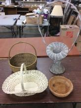 Selection of vintage baskets both tall and small