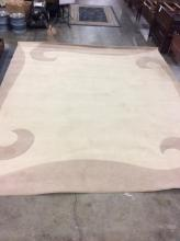 large Cream and off white Colored living room rug - fine condition