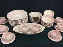 Wonderful Pink Cabbage Design China service for 8 by Block Subtil Portugal - less 2 saucers