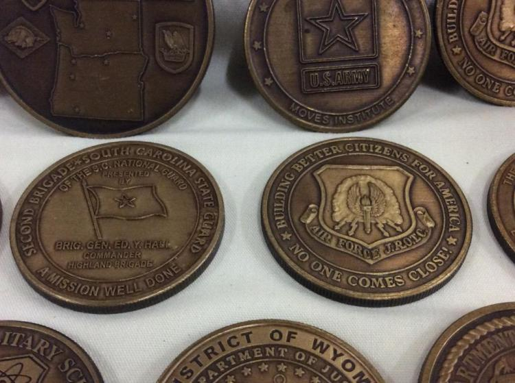 Collection of 27 Military and military challenge coins