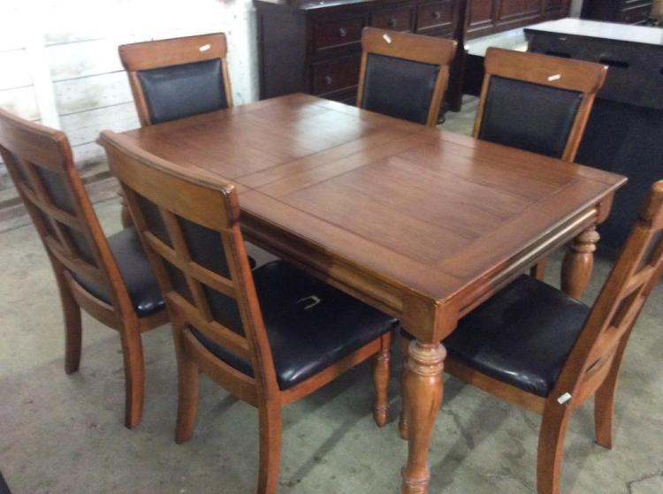 Mission style kitchen table and 6 chairs for Mission style kitchen table