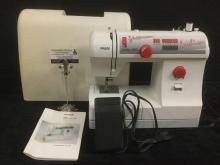 PFAFF Hobby 4250 sewing machine with cover, pedal and instruction book.