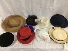 Selection of 8 vintage womens hats - Strata of London, Martine, Coraline, and more