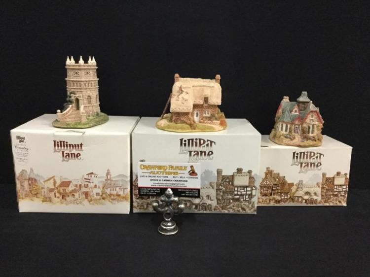 Set of 3 lilliput lane limited edition mini 39 s incl keeper 39 s for Home decor uk ltd