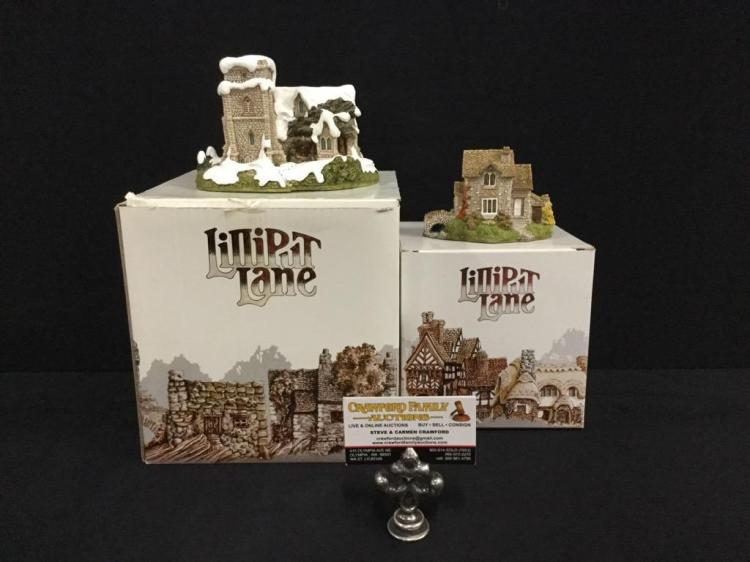 Set Of 2 Lilliput Lane Limited Edition Miniatures Helmere